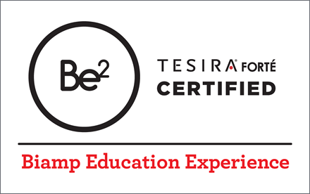 Biamp TesiraForte Certified